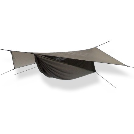 Camp and Hike The Hennessy Hammock Explorer Ultralight Asym Zip solo shelter provides lightweight, luxurious sleeping comfort for anyone up to 7 ft. tall and weighing up to 250 lbs. - $279.95