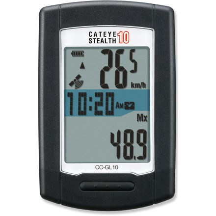 Camp and Hike The CatEye Stealth 10 is a simple GPS-enabled bike computer that's easy to set up and easy to operate, making it a great value for light training and everyday cycling use. - $59.93