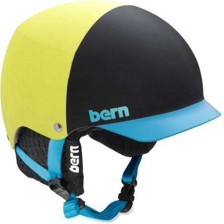 Ski The Bern Baker snow helmet with removable winter liner is made for you, a hard-charging athlete who requires solid protection and desires a stylish, well-fitting design. Thin-shell molded ABS shell with expanded polystyrene (EPS) hard foam interior provides high-impact protection. Removable winter liner features a breathable mesh crown and soft, fleece-lined padding to keep the chill off your ears and back of your neck. Bern Baker snow helmet features a low-profile shape and rear goggles clip; also includes an EPS Summer Comfort liner. Meets ASTM F 2040 and EN 1077B standards for snow and ski, CPSC and EN 1078 standards for bike and skate. Closeout. - $48.73