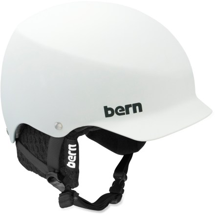 Ski The Bern Baker snow helmet with removable winter liner is made for you, a hard-charging athlete who requires solid protection and desires a stylish, well-fitting design. Thin-shell molded ABS shell with expanded polystyrene (EPS) hard foam interior provides high-impact protection. Removable winter liner features a breathable mesh crown and soft, fleece-lined padding to keep the chill off your ears and back of your neck. Bern Baker snow helmet features a low-profile shape and rear goggles clip; also includes an EPS Summer Comfort liner. Meets ASTM F 2040 and EN 1077B standards for snow and ski, CPSC and EN 1078 standards for bike and skate. Closeout. - $59.73