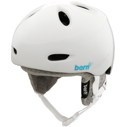 Ski The Bern Berkeley women's snow helmet offers super lightweight, low-profile head protection for you if you aren't interested in rhinestones or bows, just a well-crafted helmet. - $59.73