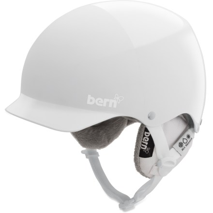 Ski Who says a helmet can't be your favorite accessory? The Bern Muse snow helmet is made for you, a hard-charging female athlete who requires solid protection and a stylish, well-fitting design. Thin-shell molded ABS shell with expanded polystyrene (EPS) hard foam interior provides high-impact protection. Removable winter liner features a breathable mesh crown and soft, fleece-lined padding to keep the chill off your ears and back of your neck. Bern Muse snow helmet features a low-profile shape and rear goggles clip. Meets ASTM F 2040 and EN 1077B standards for snow and ski, CPSC and EN 1078 standards for bike and skate. Closeout. - $65.73