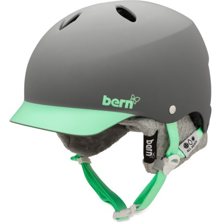 Ski The Bern Lenox women's snow helmet features a built-in visor and 7 curved vents for ultimate protection. It offers a small shell size and a nod to your feminine side. - $38.73