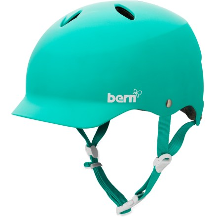 Ski The Bern Lenox Snow helmet offers a stylish and protective option on and off the snow. Use the winter liner to keep you cozy on the slopes and the summer liner to keep you cool on the trail. Small shell size and pretty colors appeal to your feminine side. Thin-shell molded ABS shell with expanded polystyrene (EPS) hard foam interior provides high-impact protection. Removable winter liner features a breathable mesh crown and soft, fleece-lined padding to keep the chill off your ears and back of your neck. Bern Lenox snow helmet features a rear goggles clip and adjustable chin strap; also includes an EPS Summer Comfort liner. Meets ASTM F 2040 and EN 1077B standards for snow and ski, CPSC and EN 1078 standards for bike and skate. Closeout. - $59.73