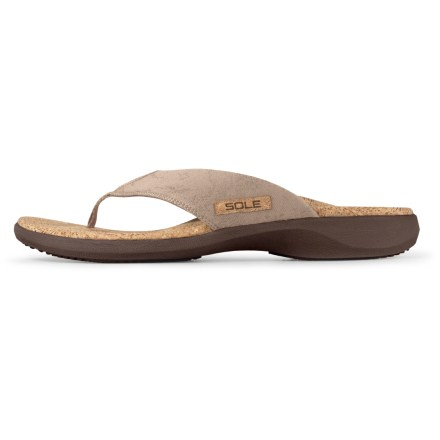 Surf Like flip-flops but need more support? SOLE Cork flip-flops combine the support of their well-known insoles with classic flip-flop styling to keep your feet comfortable all summer long. - $18.83
