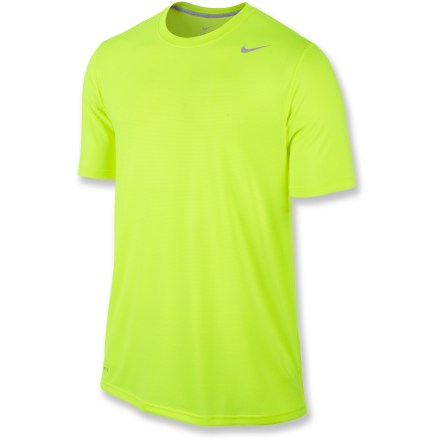 Fitness Make your workout count by going the distance in the Nike Vapor Touch T-shirt. Its lightweight fabric keeps you cool in warm weather by wicking moisture and drying quickly. Lightweight, airy and smooth to the touch, Dri-FIT(R) fabric keeps you comfortably cool so you can give it your all. The semifitted Nike Vapor Touch T-shirt is not too tight and not too loose. - $18.93