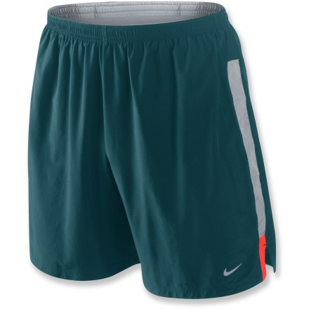 Fitness Built with a comfortable internal liner and sweat-wicking fabric, the Nike 2-in-1 shorts offer the comfortable coverage of a 7 in. inseam during everyday runs. Dri-FIT(R) fabric delivers high-tech moisture management to keep you cool, dries quickly, and feels soft and comfortable against your skin. Featuring high recycled content, the liners wick moisture and dry quickly. Mesh side panels on outer shorts enhance ventilation. Elastic waist with internal drawcord delivers a personalized fit. Rear zippered pocket stores small items. Reflective highlights increase visibility. The Nike 2-in-1 shorts offer a relaxed fit. - $25.83