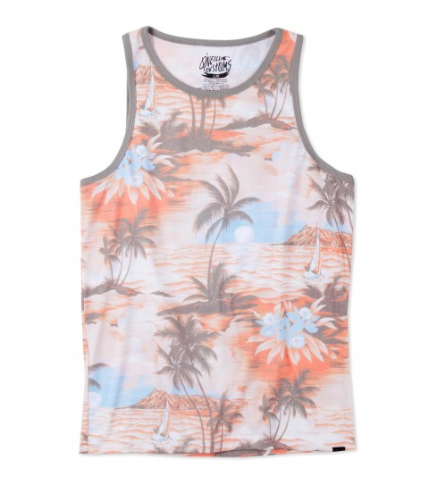 Surf O'Neill Ala Moana Tank.  50% Cotton / 50% Poly.  30 singles engineered sublimated classic fit tank. - $14.99