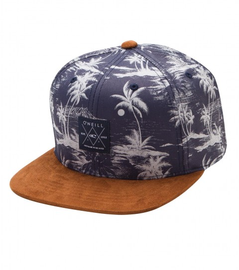 Surf O'Neill Laid Hat.  All over Hawaiian print hat with HDMD woven label at wearers front; suede visor and button; rear woven label detail. - $19.99