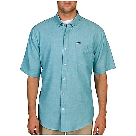 Surf Free Shipping. Billabong Men's All Day SS Woven DECENT FEATURES of the Billabong Men's All Day Short Sleeve Woven Short sleeve solid chambray woven with single front chest Woven labeling on pocket and contrast fabric on inside collarstand The SPECS 71% Cotton 28% Polyester 1% viscose - $49.50