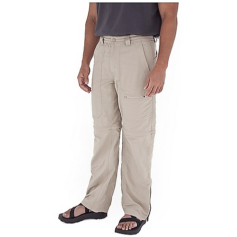 Fitness On Sale. Free Shipping. Royal Robbins Men's Backcountry Convertible Pant FEATURES of the Royal Robbins Men's Backcountry Convertible Pant UPF 50+ Breathable mesh front pocket bags Zip secured front pocket with internal drain ports Zip secured right back pocket Hook and loop closure on left back pocket Double layer seat Brushed tricot lined waistband Boot friendly ankle zips Full length running gusset - $32.99