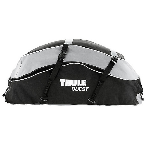 Entertainment On Sale. Free Shipping. Thule Quest Cargo Bag DECENT FEATURES of the Thule Quest Cargo Bag Durable, weather resistant construction helps keep contents dry Heavy-duty snap buckles secure the bag to the vehicle Collapses for fast, compact easy storage - storage bag included Carries up to 13 cubic feet of cargo Fits Thule rack systems, round bars, and most factory racks OVERSIZE ITEM: We cannot ship this product by any expedited shipping method (3-Day, 2-Day or Next Day). Even if you pick that option, it will still go Ground Shipping. Sorry for being so mean. This product can only be shipped within the United States. Please don't hate us. - $80.96