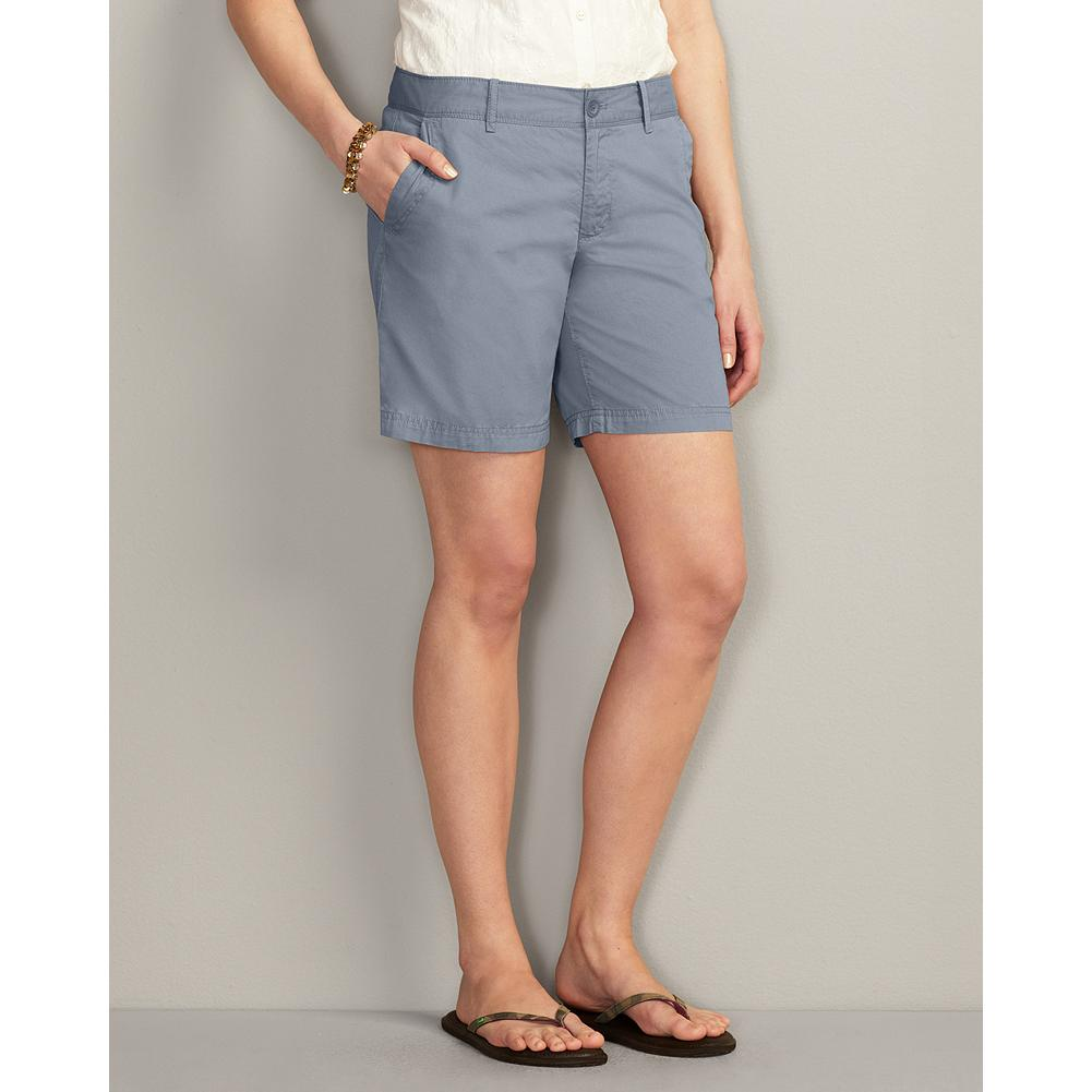 "Eddie Bauer Textured Cotton 7"" Weekend Shorts - The lightweight textured cotton in our comfortable, relaxed-fitting Weekend Shorts has a peached finish for softness, and this is further enhanced by a special prewash. The mini-herringbone fabric is pigment-dyed to create unique highs and lows of color that weather beautifully. Also available in Bermuda and rolled-hem versions. - $14.99"