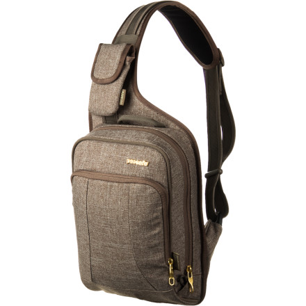 Fitness Whether you commute daily via train or subway or plan to travel around the states or abroad, count on the Pacsafe MetroSafe 150 Tweed Collection Bag to keep your valuables secure. This modern-looking, cross-body sling bag features eXomesh slashguards, a Slashproof Carrysafe shoulder strap, smart-zipper security, dual-release security buckle, and an RFID-blocking pocket that ensures against sticky-fingers and bag slasher's knives and blades. - $89.95