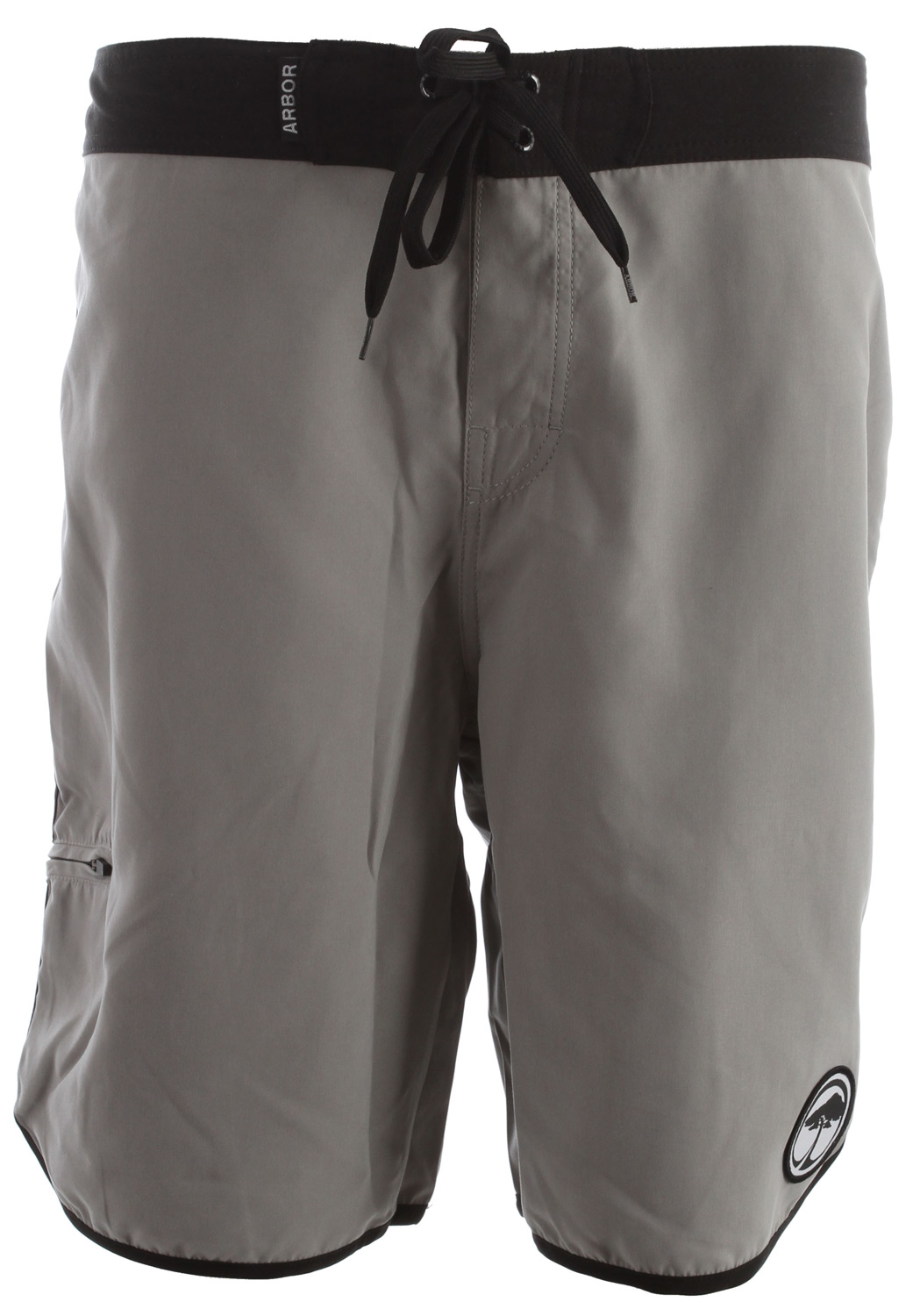 "Surf Key Features of the Arbor Pipe Boardshorts:  100% poly infused w/ nano bamboo (51%   Retro boardshort with scalloped edge  Side zip key pocket  20"" outseam - $51.95"