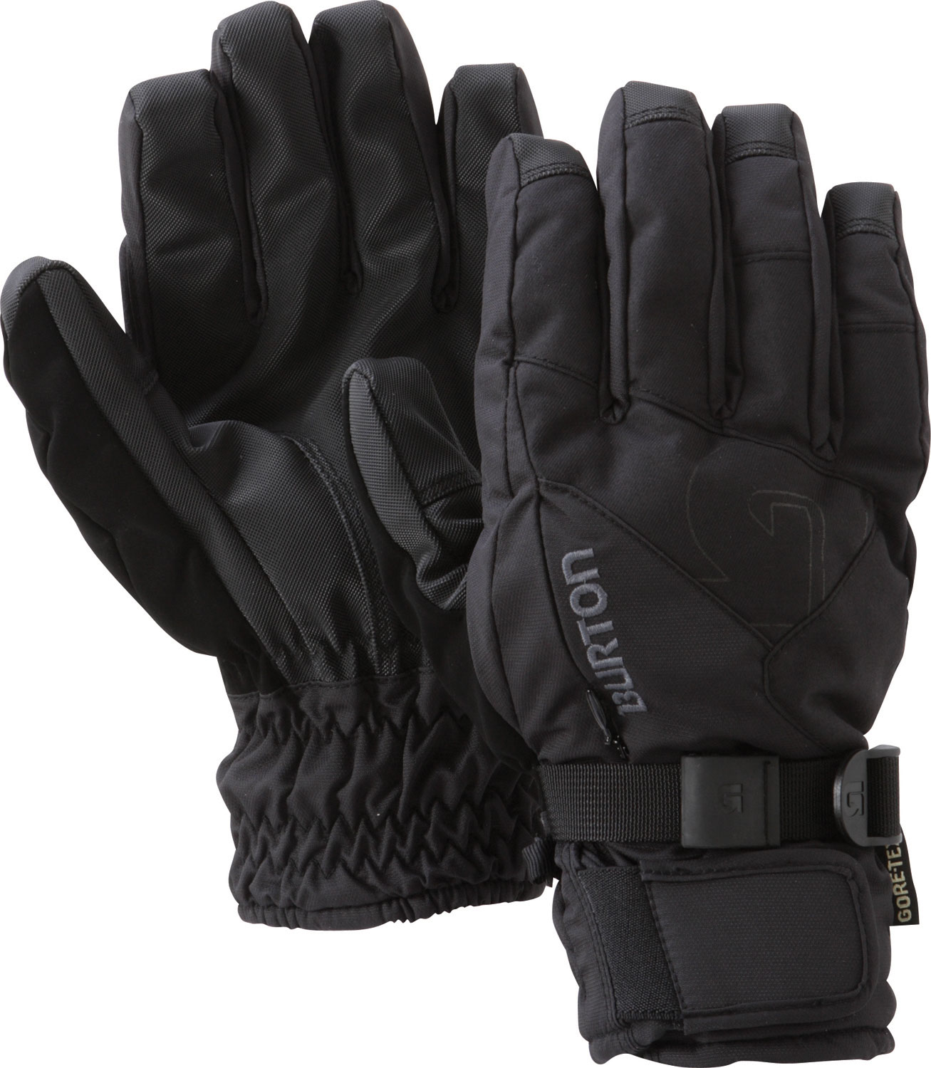 Snowboard The life of a glove is not easy. More than any other part of your riding kit, gloves have the most contact with the elements. With that in mind, the Burton GORE-TEX Glove is so overbuilt, you'll wish you could put your whole body in it, not just your hand (get your mind out of the gutter!). DRYRIDE Ultrashell 2L fabric, and a Guaranteed To Keep You Dry GORE-TEX waterproof/breathable insert protect this Thermacore insulated glove from the gnarliest weather. A removable four-way stretch DRYRIDE Thermex liner dries quick and lets you fine-tune your warmth, while also working great all alone when hiking, shoveling, or adjusting your bindings.Key Features of The Burton Gore Snowboard Undergloves: Pistol Grip Pre Curve Fit Removable, 4 Way Stretch DRYRIDE Thermex Liner Gore Tex Waterproof / Breathable Glove Insert Sticky Icky Grip Palm DRYRIDE Ultrashell 2-Layer Coated Fabric Soft Chamois Goggle Wipe Brushed Microfiber Lining Hidden Heater/Vent Pocket - $41.95