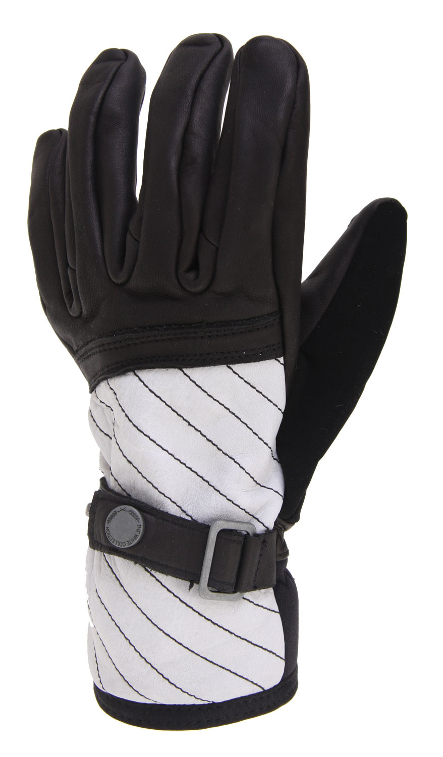 Snowboard Fight off the cold with Burton's The White Collection snowboard gloves. Water resistant rodeo leather outer provides superb comfort and head turning style, and the waterproof breathable insert keeps your hands bone dry without stifling them. Thermacore insulation holds up in the worst conditions, and pistol grip precurved fit means they're ready to go right away. Keep your hands warm and dry on the slopes, and get Burton's build quality and performance with The White Collection snowboard gloves.Key Features of the Burton White Collection Snowboard Gloves: Water-Resistant Rodeo Leather Stretch Shell Insane Membrane 2.0 Waterproof/Breathable Insert Thermacore Insulation 220G Fixed Fleece Lining Rodeo Leather Palm Pistol Grip Pre-Curved Fit - $33.56