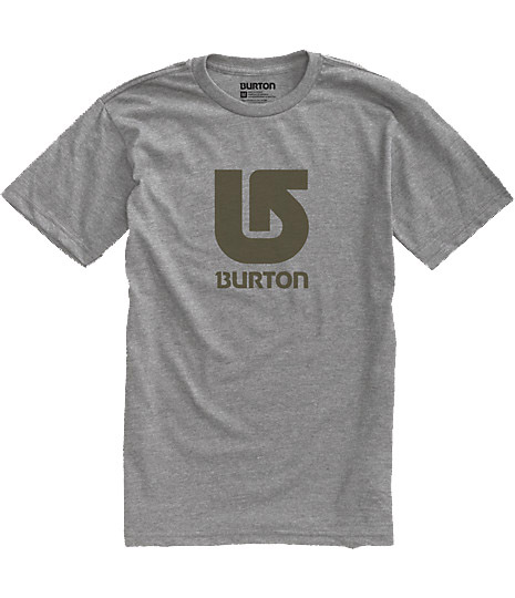 Snowboard Key Features of the Burton Logo Vertical T-Shirt: 90% Cotton, 10% Polyester [Heather Gray] 100% Cotton [All Other Colorways] Screen Print on Front and Back Regular Fit - $13.95