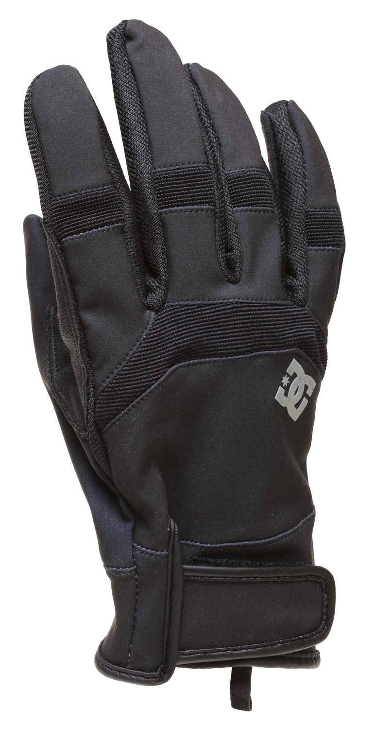 Snowboard Key Features of the DC Antuco Snowboard Gloves: Water-repellant Three layer stretch Slim fit pip glove with breathable finger gusset Sueded palm with silicon logo print Synthetic leather thumb protection - $21.95