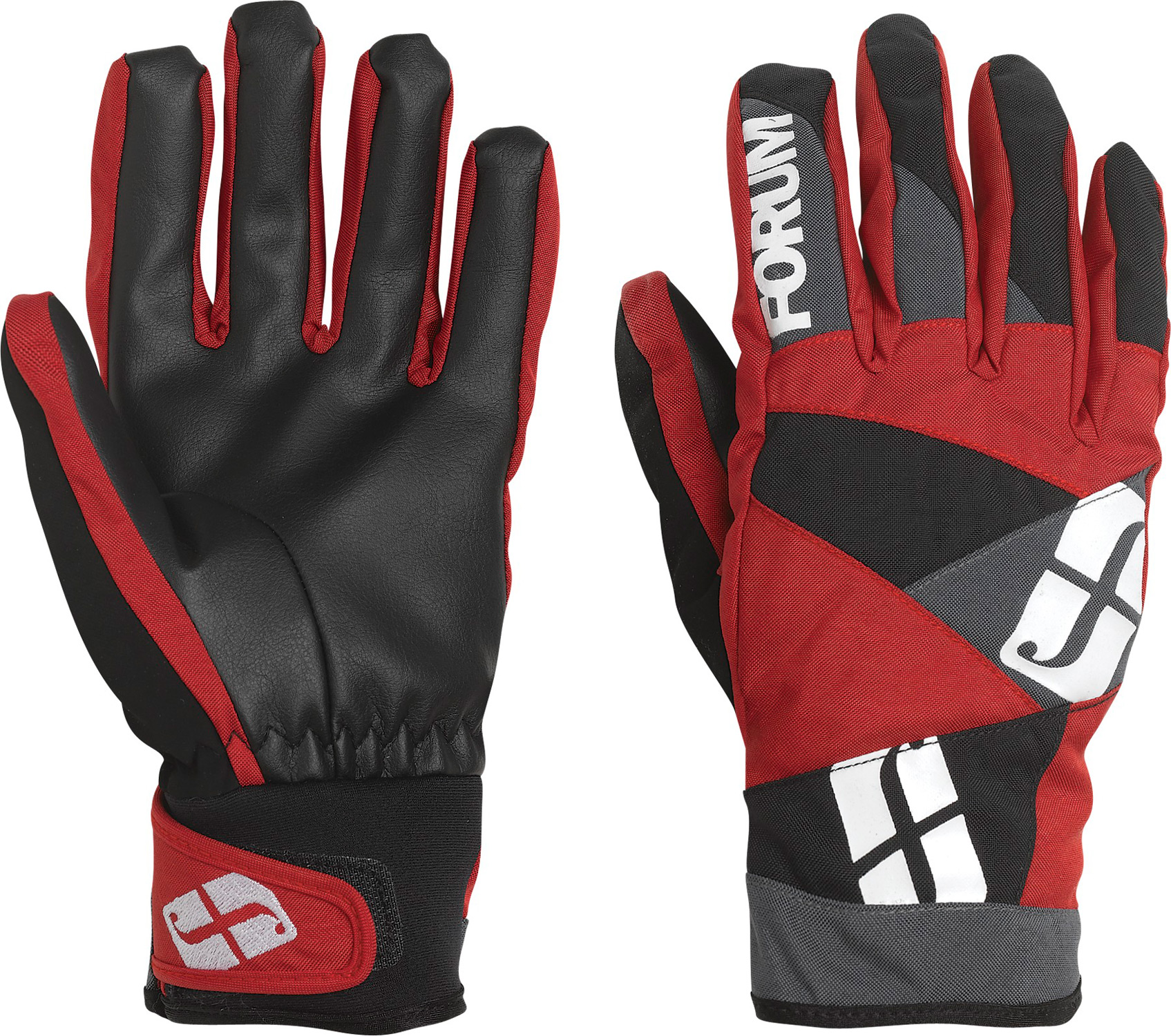 Snowboard Key Features of the Forum Fair Snowboard Gloves: Lightly insulated spring glove Water-repellent barrier shell Hot Box insulation Soft-grip PU palm Soft fleece lining Adjustable cuffs Faux-suede nose-wipe - $26.95