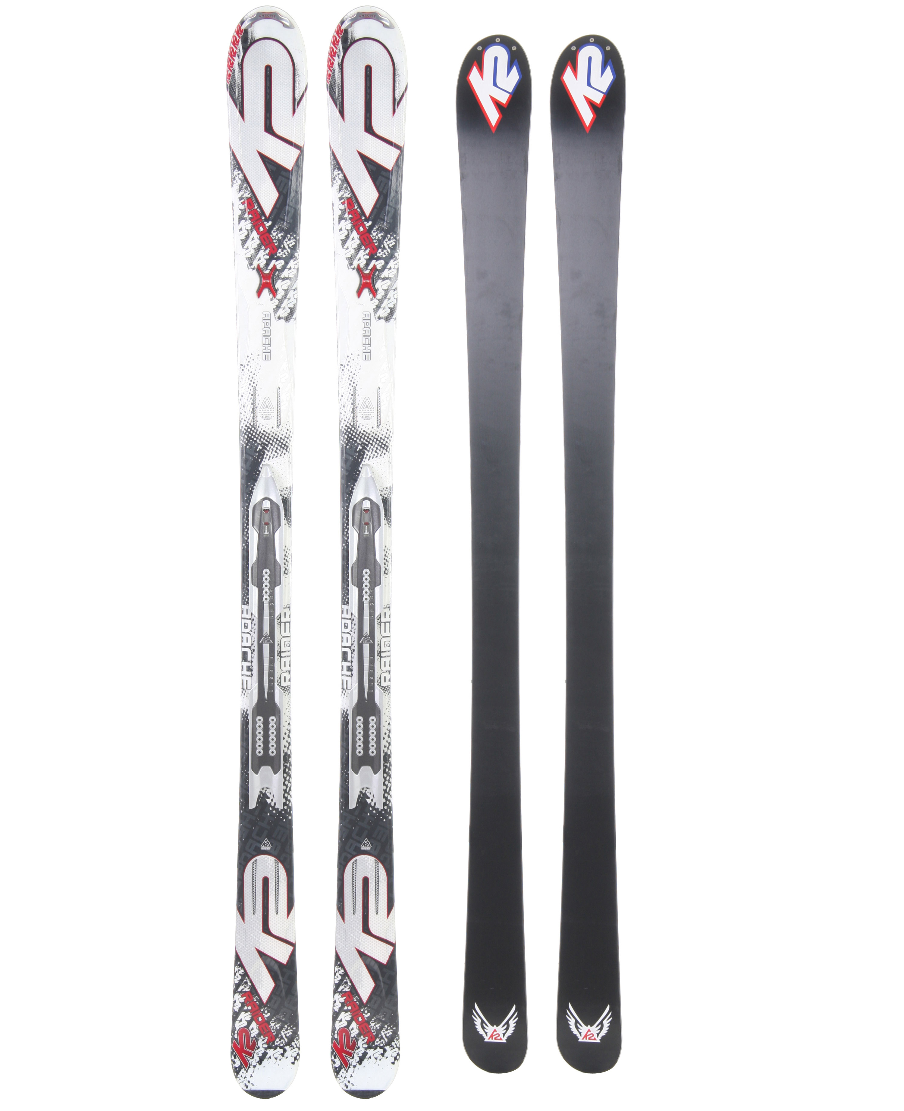 Ski K2's most forgiving performance oriented Apache Ski. Athletic skiers seeking performance at an exceptional value are going to love the Raider. This versatile ski is built on the proven Recon chassis but in a torsion box construction for added versatility over the entire mountain.Key Features of The K2 Apache Raider Skis 163: Ungroomed: 50% / Groomed: 50% 18m@177 Turn Radius Torsion Box Cap Construction Fir/Aspen Core Bindings Options: K2/M2 11.0 TC Mod Monic MOD Technology Triaxial Braiding - $374.46