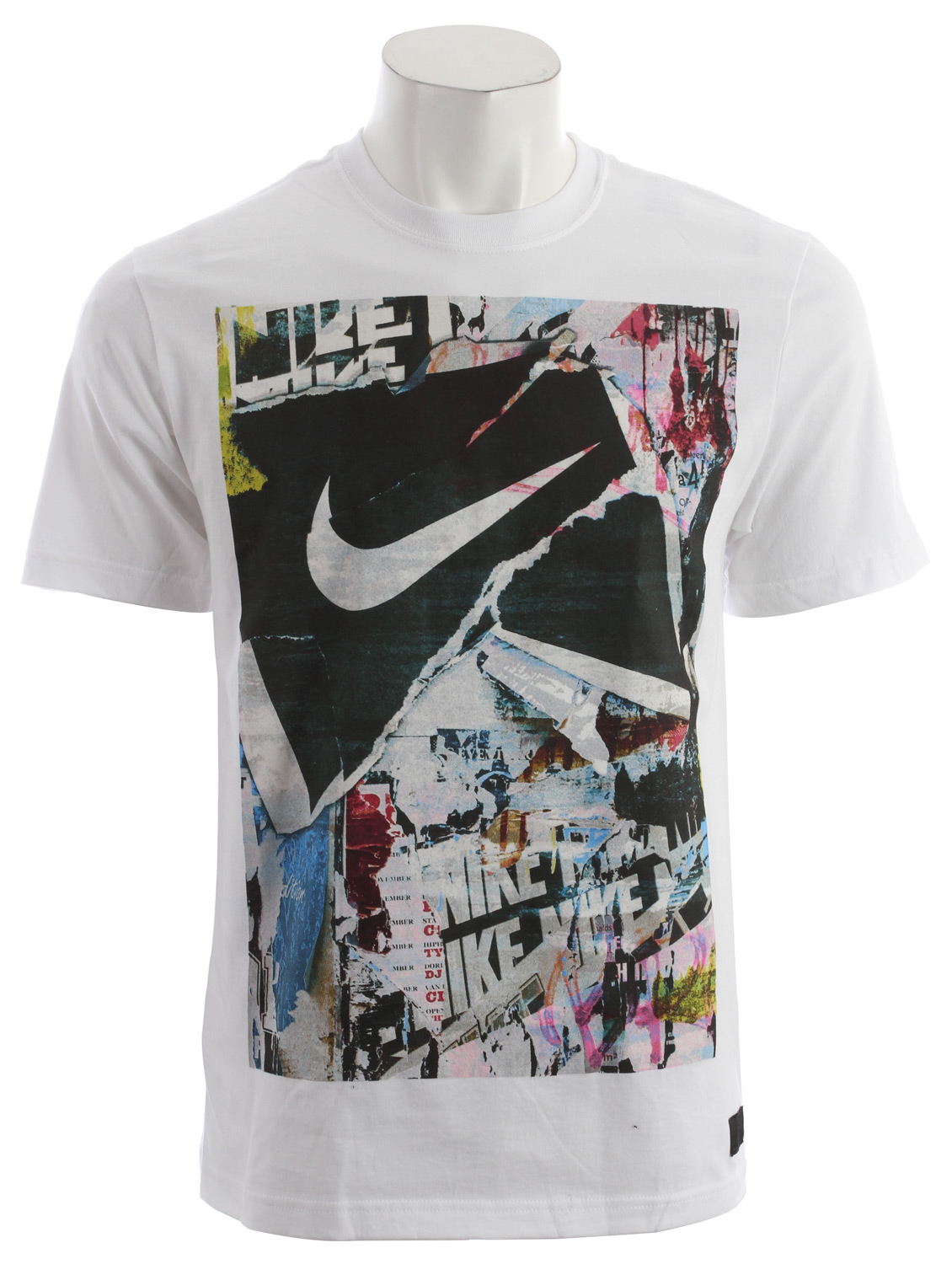 Skateboard Key Features of the Nike Torn Up Ribbon T-Shirt: All-purpose cotton tee graphic executed with a soft hand screen print. Body: 175g. 100% cotton (10% organic) plain jersey. Rib: 250g. 100% cotton (10% organic). - $25.00