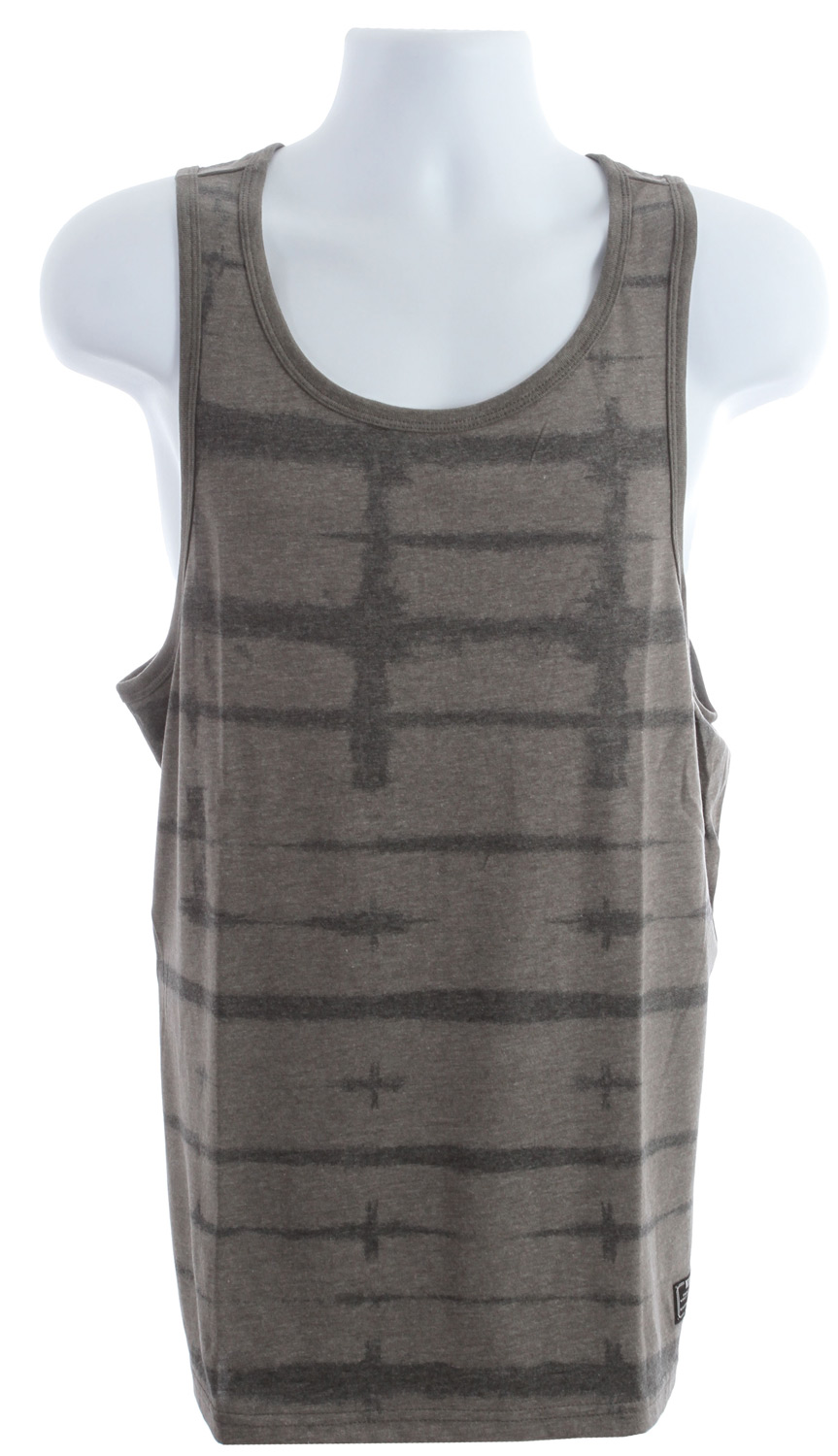 Skateboard Nike Shibori Dri Fit Tank Midnight Fog/Black - $25.95
