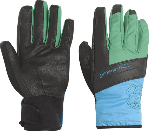 Snowboard Key Features of the Special Blend SB Leather Snowboard Gloves: Lightweight Leather Glove 60g Soft Insulation Fleece lined Water Repellant Barrier Nylon Shell on back of hand Full leather palm and trim Adjustable cuffs - $34.95