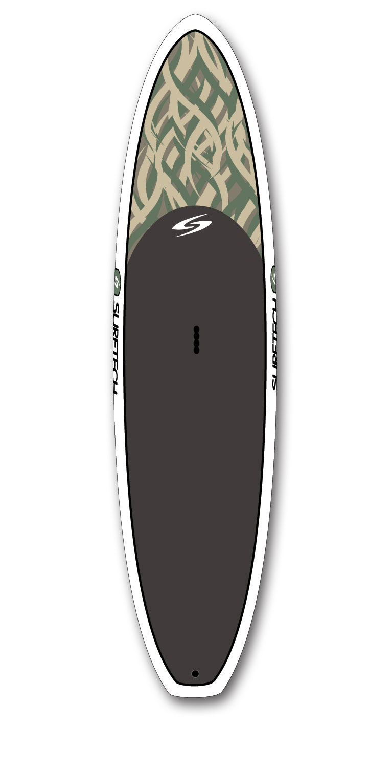 Wake Softtops represent Surftech's dedication to performance and value. Each Softtop is a custom shaped epoxy fiberglass board with a functional EVA deck pad, creating a ready to ride durable all-around SUP. - $935.95