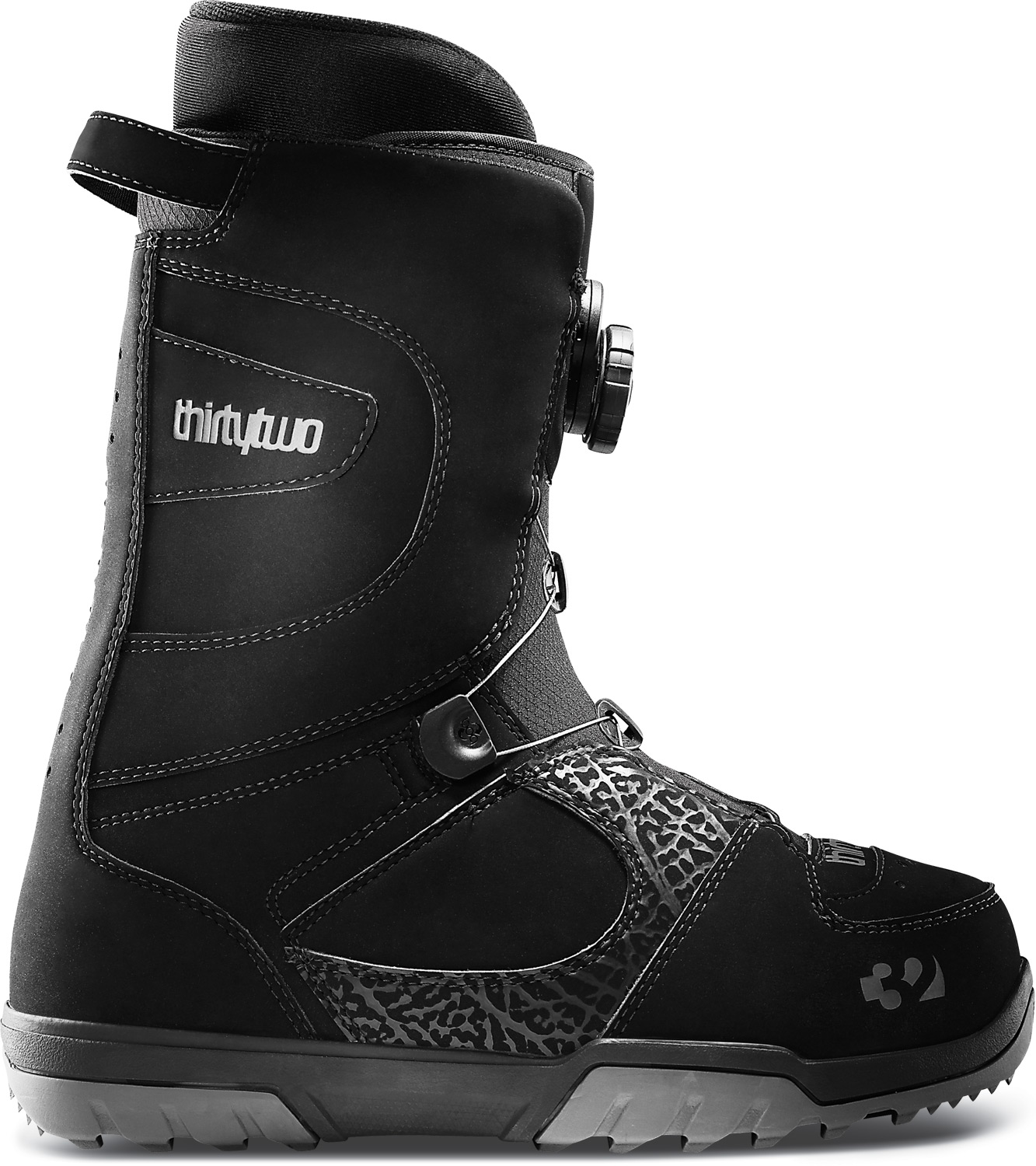 Snowboard This BOA classic has spun it's way into being one of our top 3 models.Key Features of the 32 - Thirty Two STW BOA Snowboard Boots: Comfort fit Level 2 Liner Level 1F Footbed Flex: 4/10 New BOA lacing system reel Rubber outsole with EVA cushioning Internal liner lacing system 3D molded tongue 100% heat moldable intuition ultralon liners - $125.95