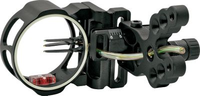 Hunting Axions lightest, most-compact sight the Soul Hunter 3-Pin Bow Sight is also a budget-pleasing investment thats great for beginners or experienced bowhunters. Easy to install and use, this 4.5-long, CNC-machined sight is built with staggered mounting holes, laser-etched adjustment lines, and easy windage and elevation adjustments. 2 pin guard with glo ring. Includes rheostat blue light and level. For use with left- and right-hand bows. Color: Black Type: 3-Pin Sights. Color Black. - $44.88
