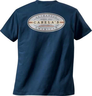 Entertainment Evoking the history and time-earned status of Cabelas as a well-known outdoorsman outfitter for over 50 years, this tee shirt features rustic Americana graphics in classic colors. Preshrunk 6.1-oz. 100% cotton. Machine washable. Imported. Sizes: M-2XL. Colors: Chocolate, Navy, Thunderstruck. Size: 2XL. Color: Chocolate. Gender: Male. Age Group: Adult. Material: Cotton. Type: Short-Sleeve Tee Shirts. - $8.99