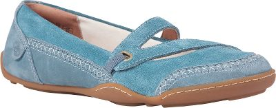 For casual comfort, the Timberland Womens Earthkeepers BareStep Double-Strap Mary Jane shoes offer premium full-grain leather and suede uppers for durable shoes and long-lasting wear. Timberlands handsewn stitching on the uppers offer a decorative contrast. Adjustable straps create a custom fit and padded interior toplines supply extra comfort. 100% recycled PET linings and brushed synthetic-suede footbeds surround your feet. The contoured, removable foam footbeds mold to the shape of your feet and offer breathable comfort. Textured rubber outsoles deliver traction for those slippery moments.Womens sizes: 6-11 medium width. Half sizes to 10.Colors: Black, Blue, Dark Brown. - $89.99
