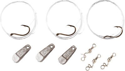 Fishing Anglers have trusted the Lindy Original Minnow Rig for decades as a tried-and-true fish-catcher embodying simplicity of design and function. Popular for snagging wary walleye, these rigs feature a modern slip-sinker/feed em line system that presents live bait naturally. Rigs are pre-tied for easy setup. Just tie on the swivel, clip the rig into the swivel and youre ready to go. Each pack comes with three 36 snells, two sinkers and two swivel clips. Sizes: 1/8, 1/4, 3/8, 1/2. Type: Bait Rigs. - $3.19