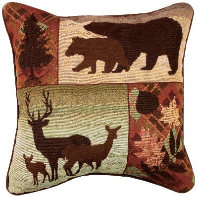 Entertainment From wildlife to plant life, the Manual Woodworkers Weavers Call of the Wild Pillow brings the outdoors inside in a cozy, earth-toned tapestry. Accented with piping, pillow has a tapestry face, cotton back and 100% recycled polyester fill. Spot or dry-clean. Made in USA.Dimensions: 17L x 17W. Type: Pillows. - $29.99