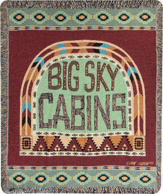 Designed by folk artist Cindy Shamp, the colors and patterns of the Manual Woodworkers Weavers Big Sky Cabins Throw exude an authentic cabin feel and a homespun touch. Tapestry throw is made of 100% woven cotton for warmth, durability and comfort. Accented with fringe. Machine washable. Do not bleach. Made in USA.Dimensions: 60L x 50W. - $49.99