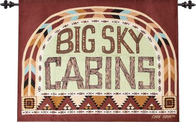 Designed by folk artist Cindy Shamp, the colors and patterns of the Manual Woodworkers Weavers Big Sky Cabins Wall Hanging exude an authentic cabin feel and a homespun touch. Woven tapestry wall hanging includes decorative rod. Spot or dry-clean. Made in USA.Dimensions: 36 x 26. - $49.99