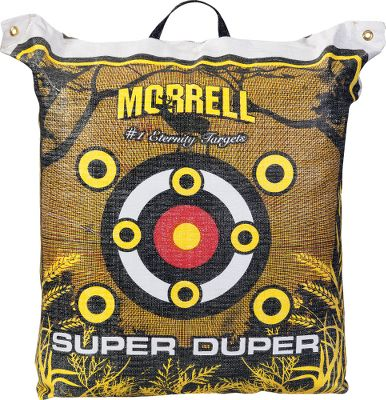 Hunting Hone your marksmanship with the convenience of the Morrell Super Duper Field-Point Target. Transports easily using the E-Z tote carry handle. Multilayered density design and a nucleus center stops arrows and bolts dead in their tracks. Internal Frame System design allows you to shoot every inch of the Super Duper Target. Easy arrow removal.Weight: 32 lbs.Dimensions: 27L x 25W x 15D. - $59.88