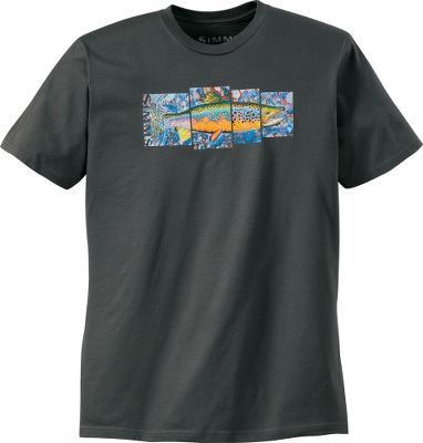 Entertainment Soft cotton shirt sports original artwork from Simms featured artist Derek DeYoung. The unique artwork and vibrant colors make this a great addition to any anglers wardrobe. 100% preshrunk cotton. Imported.Sizes: M-2XL.Color: Gunmetal. Type: Short-Sleeve Tee Shirts. Size: Medium. Color: Gunmetal. Size Medium. Color Gunmetal. - $19.88