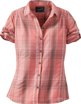 Fitness The Woolrich Womens Bloom Run Shirt is lightweight, quick-drying shirt that keeps you cool in the heat of summer. The soft, moisture-wicking 52/48 nylon/Tencel fabric delivers comfort while out in the sun. Form-flattering cut and curved hem adds the perfect amount of feminine flair. Imported.Center back length for size Medium: 27.Sizes: S-2XL.Colors: Orchid, Papaya, Frost. - $59.00