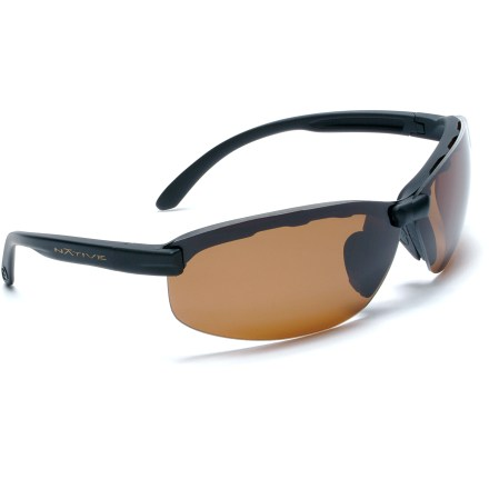 Camp and Hike The Native Eyewear Nano 2 polarized sunglasses come with 2 pairs of interchangeable lenses: one for bright light and one for low-light conditions so you're ready for any type of day. - $58.73