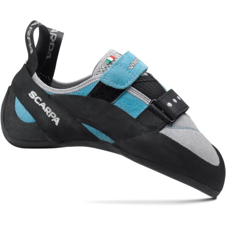 Climbing With sticky rubber outsoles and a close fit, the Scarpa Vapor V rock shoes for women make it easy to spend long days working on hard sport routes and tricky bouldering problems. - $49.73
