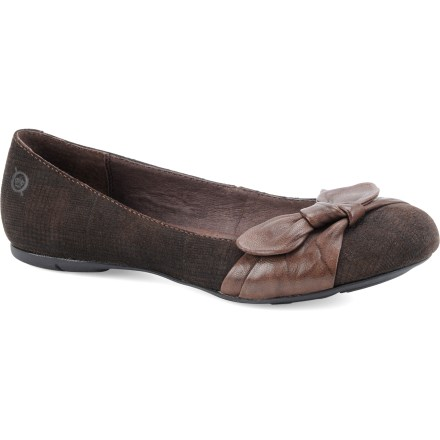 Entertainment Born Molly shoes add cute style to your outfit. Ballet flats are a joy to just slip on and go! Rich full-grain leather uppers offer lasting comfort and a refined, timeless look; handsewn Opanka construction offers the flexibility and comfort of moccasins. Smooth leather and nylon linings facilitate easy entry and offer excellent next-to-skin comfort. Rubber midsoles deliver long-lasting cushioning for all-day wear. Born Molly shoes have lightweight rubber outsoles to secure your steps throughout the day. Closeout. - $37.73