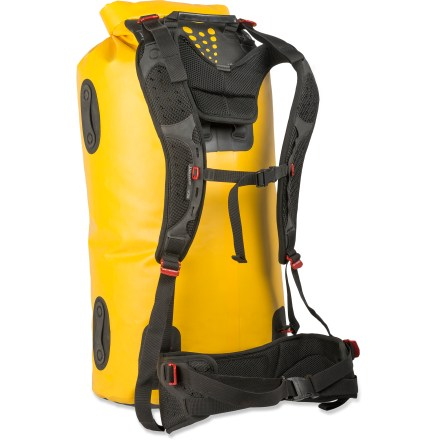 Kayak and Canoe Built to protect a ton of bulky gear during a multiday canoe, float or fishing trip, the huge, waterproof 120L Sea to Summit Hydraulic dry bag with harness makes it super easy to portage your gear. - $199.95