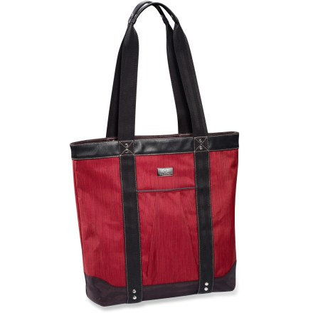 Entertainment Take the Eagle Creek Marta Tote with you anywhere and everywhere to keep you on track. It features smart interior organization and a back slip panel so it can stack on your wheeled luggage. - $25.73