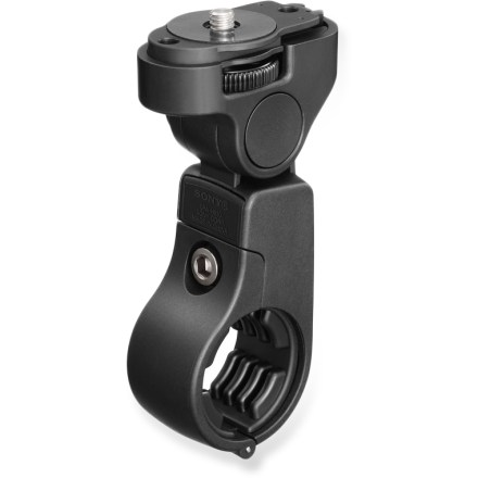 Entertainment The Sony Action Cam handlebar mount lets you capture all your cycling adventures when used with the waterproof case (Action Cam and waterproof case sold separately). - $29.95