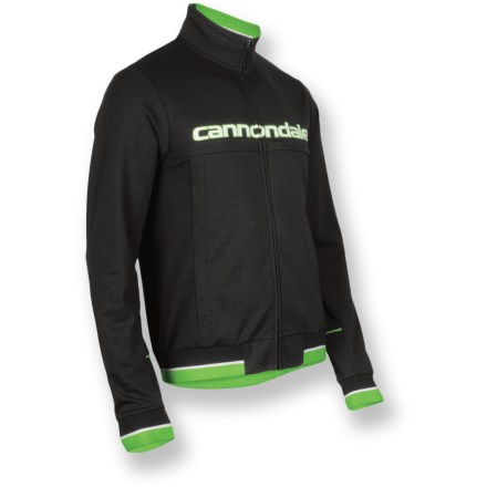 Perfect for pulling on after a chilly ride, the Cannondale Track jacket offers easy, casual style and lightweight warmth. Soft, breathable cotton provides casual comfort. Semifitted cut isn't too loose or too tight. Cannondale Track jacket features 2 side pockets. Closeout. - $31.73