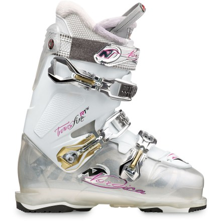 Ski Featuring a very comfortable fit, the women's Nordica Transfire R1W ski boots drive the rockered and cambered shapes of modern skis with precision. - $98.83