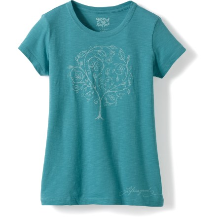 Entertainment Great for everyday wear, the Life is good(R) Good Karma Naturista T-shirt covers your skin in the reliable comfort of soft, organic cotton. Made from certified 100% organic cotton for breathable comfort and easy care. Semifitted. Closeout. - $11.73