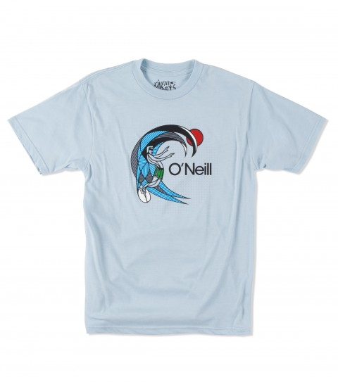 Surf O'Neill Boys Program Tee.  50% Cotton / 50% Poly.  30 singles classic fit heather tee with softhand screenprint. - $12.99